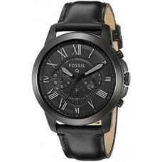 Fossil Q Grant Black Leather Hybrid Smartwatch